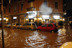 Mailand die fiume Seveso-Flut Stockbild