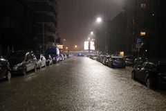 Mailand die fiume Seveso-Flut Lizenzfreie Stockfotos