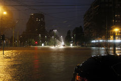 Mailand die fiume Seveso-Flut Lizenzfreies Stockbild