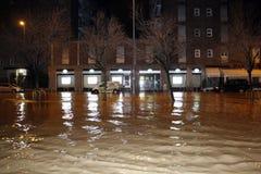 Mailand die fiume Seveso-Flut Lizenzfreies Stockfoto