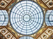 Mailand, Galleria Vittorio Emanuele II, Haube stockbilder