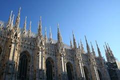 Mailand-Haube-Detail Lizenzfreie Stockfotografie