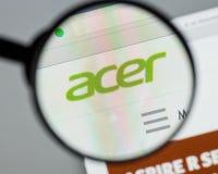 Mailand, Italien - 10. August 2017: Acer-Website Es ist ein Taiwanese Lizenzfreie Stockfotos