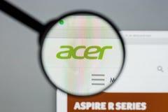 Mailand, Italien - 10. August 2017: Acer-Website Es ist ein Taiwanese Lizenzfreie Stockfotografie