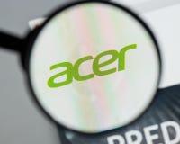 Mailand, Italien - 10. August 2017: Acer-Website Es ist ein Taiwanese Lizenzfreies Stockbild