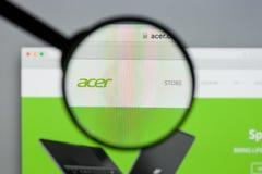 Mailand, Italien - 10. August 2017: Acer-Website Es ist ein Taiwanese Stockbilder