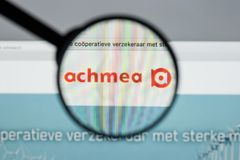 Mailand, Italien - 10. August 2017: Achmea-Websitehomepage Es ist O Lizenzfreies Stockfoto
