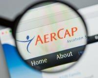 Mailand, Italien - 10. August 2017: Aer-Kappen-Holdingwebsite homepag Lizenzfreie Stockfotos