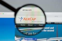 Mailand, Italien - 10. August 2017: Aer-Kappen-Holdingwebsite homepag Stockfotografie