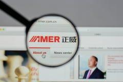 Mailand, Italien - 10. August 2017: Amer International Group-Website Lizenzfreies Stockbild