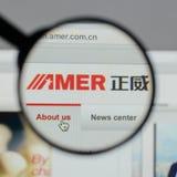Mailand, Italien - 10. August 2017: Amer International Group-Website Stockfotos