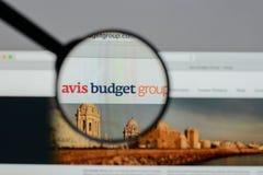 Mailand, Italien - 10. August 2017: Avis Budget Group-Logo auf wir Stockfoto