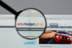 Mailand, Italien - 10. August 2017: Avis Budget Group-Logo auf wir Lizenzfreies Stockfoto