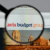 Mailand, Italien - 10. August 2017: Avis Budget Group-Logo auf wir Lizenzfreies Stockbild