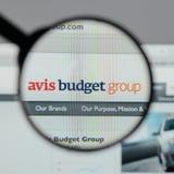 Mailand, Italien - 10. August 2017: Avis Budget Group-Logo auf wir Stockfotografie