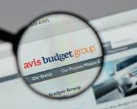 Mailand, Italien - 10. August 2017: Avis Budget Group-Logo auf wir Stockbild