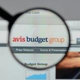 Mailand, Italien - 10. August 2017: Avis Budget Group-Logo auf wir Stockfotos
