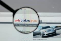 Mailand, Italien - 10. August 2017: Avis Budget Group-Logo auf wir Lizenzfreie Stockbilder