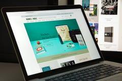 Mailand, Italien - 10. August 2017: Barnesandnoble-Websitehomepage Stockfoto
