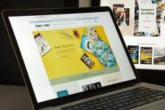 Mailand, Italien - 10. August 2017: Barnesandnoble-Websitehomepage Stockbild