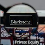 Mailand, Italien - 10. August 2017: Blackstone Group-Logo im Netz Lizenzfreie Stockbilder