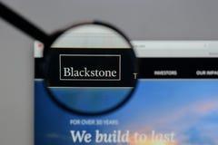 Mailand, Italien - 10. August 2017: Blackstone Group-Logo im Netz Stockbilder