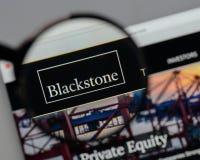 Mailand, Italien - 10. August 2017: Blackstone Group-Logo im Netz Lizenzfreie Stockfotografie