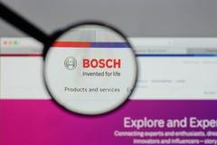 Mailand, Italien - 10. August 2017: Bosch-Logo auf dem Website homep lizenzfreie stockfotos