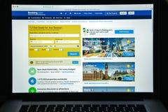 Mailand, Italien - 10. August 2017: Buchung COM-Websitehomepage Es Lizenzfreie Stockbilder