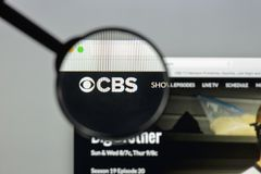 Mailand, Italien - 10. August 2017: CBS-Websitehomepage Es ist ein A Lizenzfreie Stockfotografie