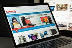 Mailand, Italien - 10. August 2017: Costco COM-Websitehomepage Es Lizenzfreie Stockfotos