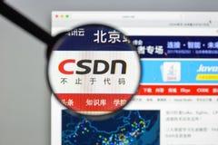 Mailand, Italien - 10. August 2017: Csdn-Websitehomepage Es ist ein Lizenzfreie Stockfotos