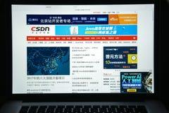 Mailand, Italien - 10. August 2017: Csdn-Websitehomepage Es ist ein Stockfotografie