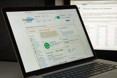 Mailand, Italien - 10. August 2017: Das freie Wörterbuchwebsitehaus Lizenzfreies Stockbild