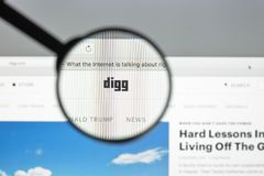 Mailand, Italien - 10. August 2017: Digg-Websitehomepage Es ist ein n Lizenzfreie Stockfotos
