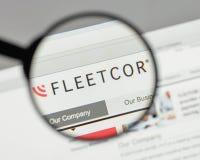 Mailand, Italien - 10. August 2017: Flotten-Cor Technologies-Logo auf t Lizenzfreie Stockbilder
