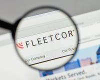 Mailand, Italien - 10. August 2017: Flotten-Cor Technologies-Logo auf t Lizenzfreie Stockfotografie