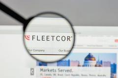 Mailand, Italien - 10. August 2017: Flotten-Cor Technologies-Logo auf t Lizenzfreies Stockfoto