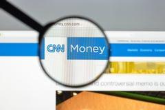 Mailand, Italien - 10. August 2017: Geld CNN-Websitehomepage mon Stockfoto