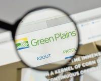 Mailand, Italien - 10. August 2017: Grün Plains Logo auf der Website Lizenzfreie Stockfotografie