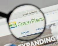 Mailand, Italien - 10. August 2017: Grün Plains Logo auf der Website Lizenzfreie Stockbilder