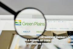 Mailand, Italien - 10. August 2017: Grün Plains Logo auf der Website Lizenzfreies Stockbild