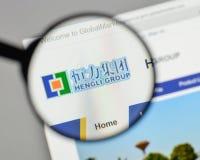 Mailand, Italien - 10. August 2017: Hengli Group-Logo auf der Website Stockbilder