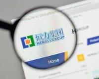 Mailand, Italien - 10. August 2017: Hengli Group-Logo auf der Website Stockfotos
