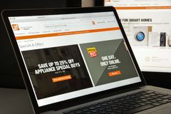 Mailand, Italien - 10. August 2017: Home Depot COM-Websitehomepage stockbild