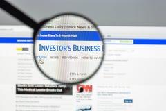 Mailand, Italien - 10. August 2017: Investorwebsitehomepage Inve lizenzfreie stockfotografie