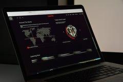 Mailand, Italien - 10. August 2017: Lastfm-Websitehomepage Es ist Stockfotos