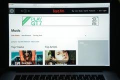 Mailand, Italien - 10. August 2017: Lastfm-Websitehomepage Es ist Lizenzfreie Stockfotos