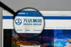 Mailand, Italien - 10. August 2017: Logo Dalians Wanda Group auf dem w Lizenzfreie Stockfotografie