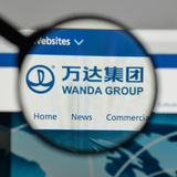 Mailand, Italien - 10. August 2017: Logo Dalians Wanda Group auf dem w Lizenzfreies Stockfoto